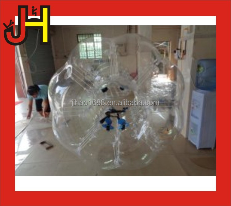 TPU Plastic Material Human Inflatable Bumper Bubble Ball For Football