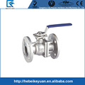 Stainless steel PN16 Two Piece Flanged Full Bore Ball Valve