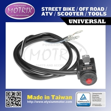 Black Body/ Red Button Nylon and Steel Motorcycle Kill Switch fit for KAWASAKI KX