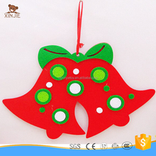 cheap promotional bell shape felt christmas tree decorate toys