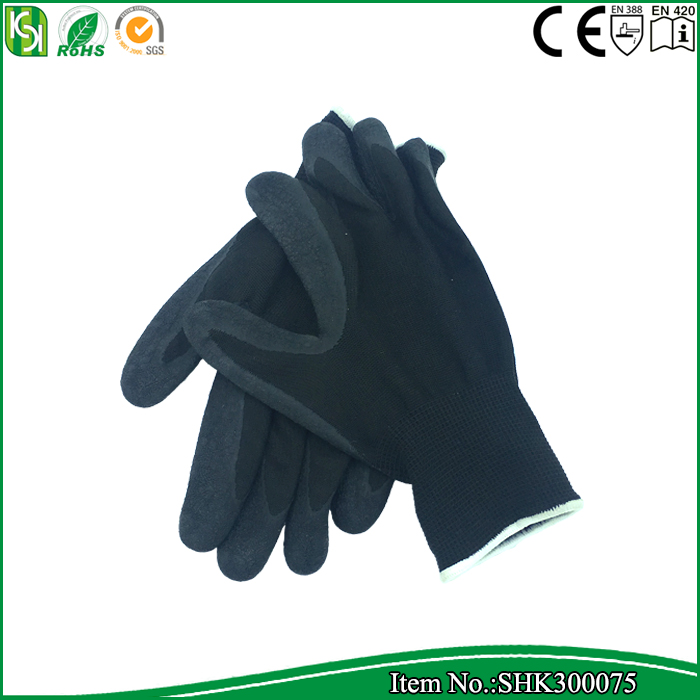 Wholesale cheap mechanical latex coated dipped work gloves