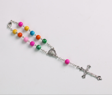 Colorful Rosary Bracelet Catholic Religious Jewelry Zinc Alloy Chain Cross Buckle Prayer Bracelet