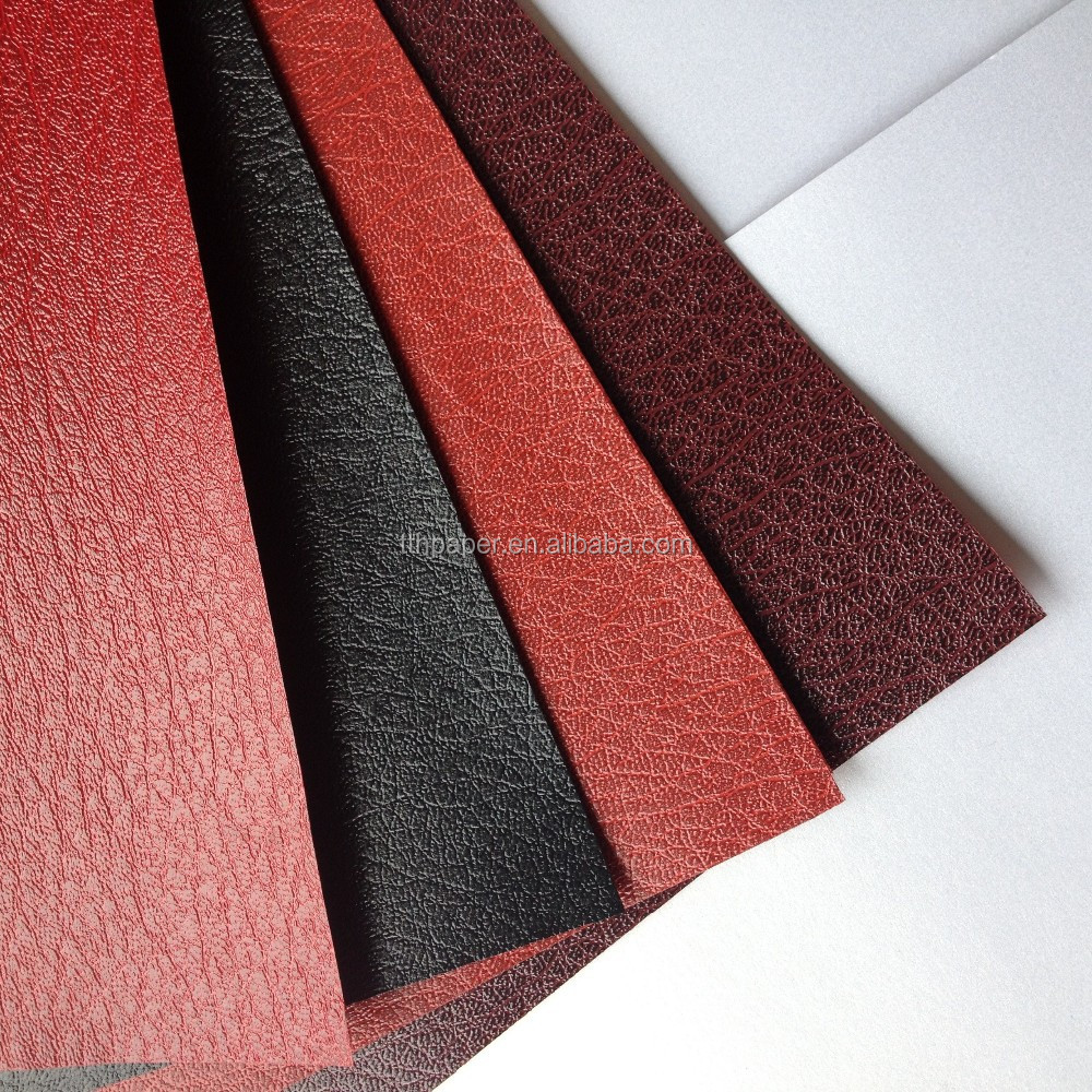 colored embossed leatherette paper for box covers, paper bag and gift wrapping