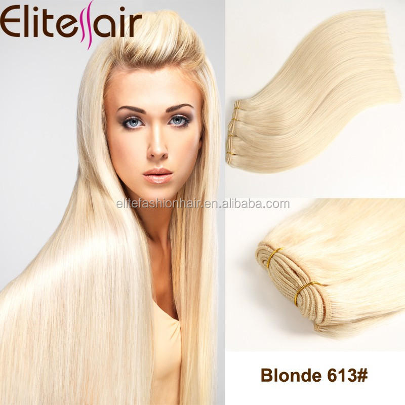 Alibaba hot selling double layer blonde virgin brazilian cheap human hair weft