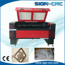 China high precission die board laser cutting machine have two laser head for engraving and cutting