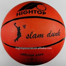 wholesale rubber basketball cheap price and custom logo printing