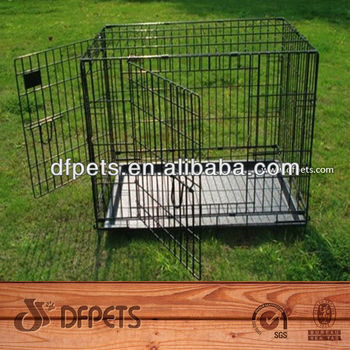 Foldable Pet Dog Cage With 2 Doors