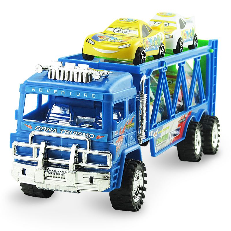 Self assemble toys diy <strong>friction</strong> kids big trailer truck toys