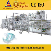 Full automatic disposable baby adult diaper production line