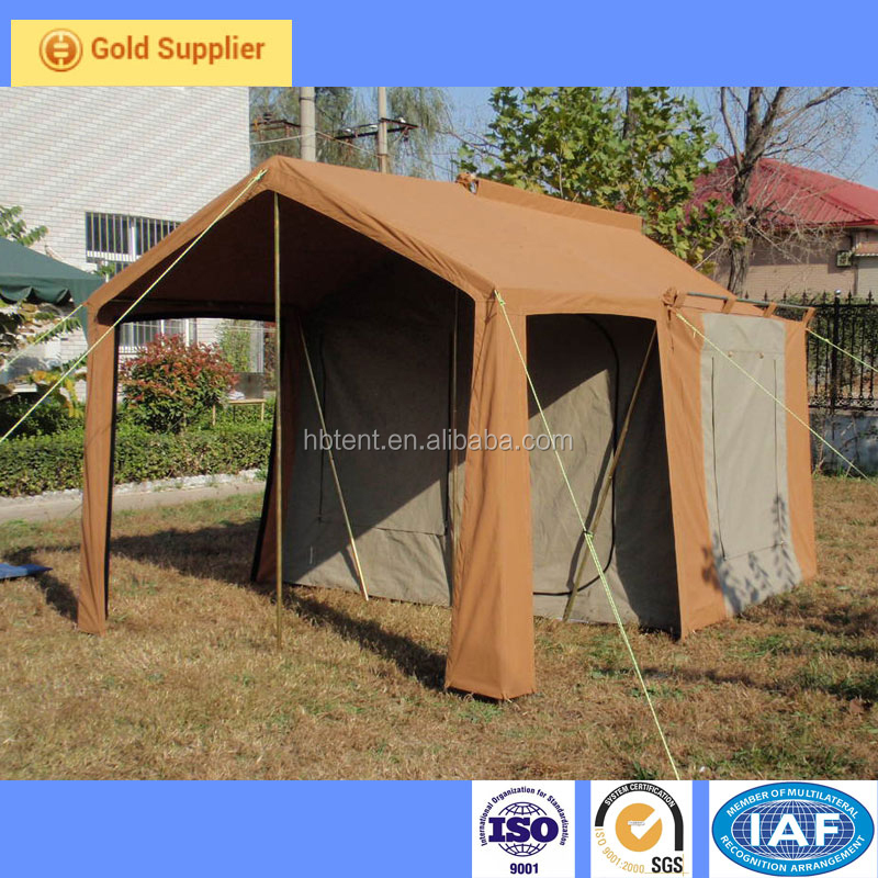 Canvas Safari Tent, Temporary Lodge Tent, Outdoor glamping tent