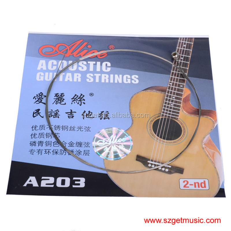 Alice A203 Balladry Guitar 2nd String Wood Guitar String Alice Guitar Strings of Ballads