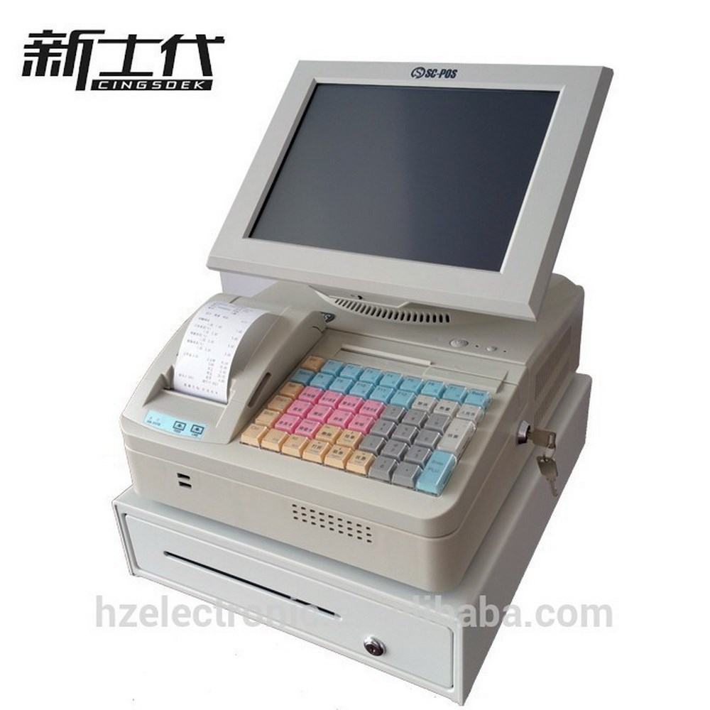 POS terminal and touch screen cash register