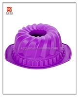 KG-0018 popular food grade material colorful silicone cake mold