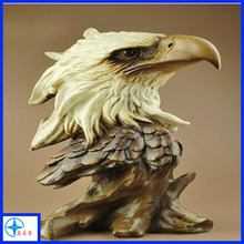 large resin eagle head bust statue