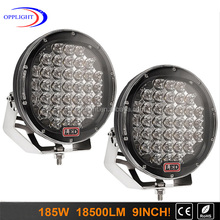 Guangzhou offroad Accessorie 4x4 auto lights Round 185w Led Driving Light 9inch Led Spotlight For Truck Jeep Suv Atv