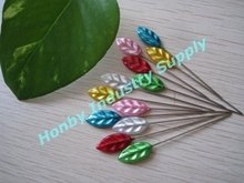 Party supplies 55mm leaf shape pearl head pins for decorating