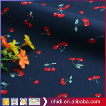 40S Custom design cotton textile printed cherry poplin fabric