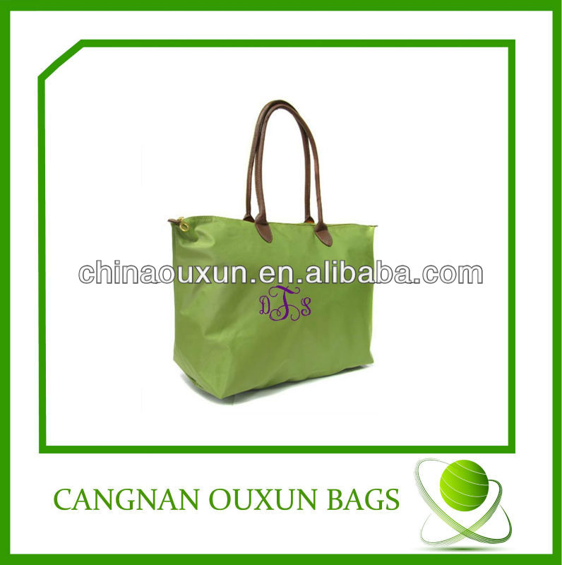 fashion foldable oxford promotion cheap logo shopping bags