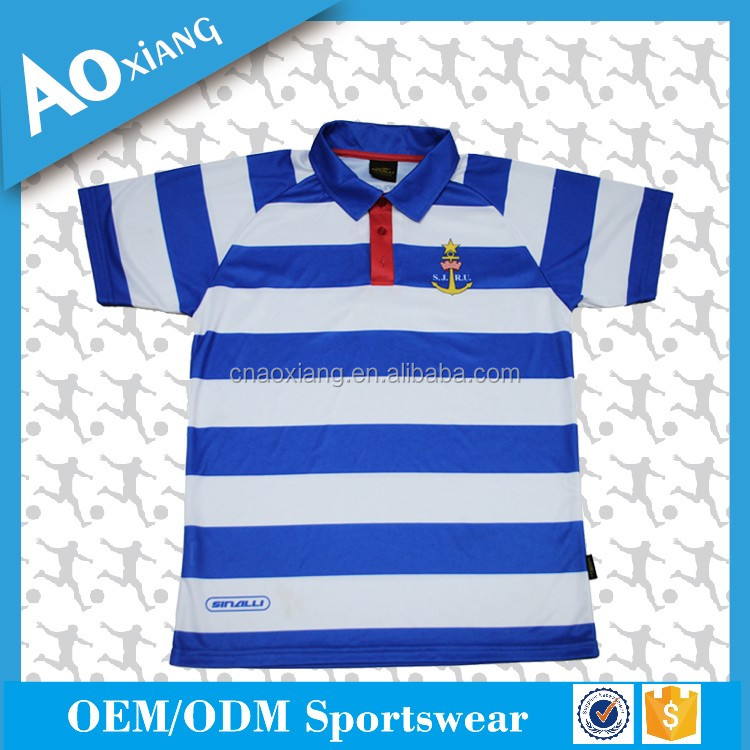 OEM custom solid men stripe high quality polo tshirt in China