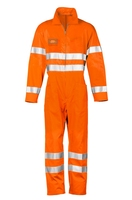 High visibility poly-cotton reflective flight pilot coverall EN 20471