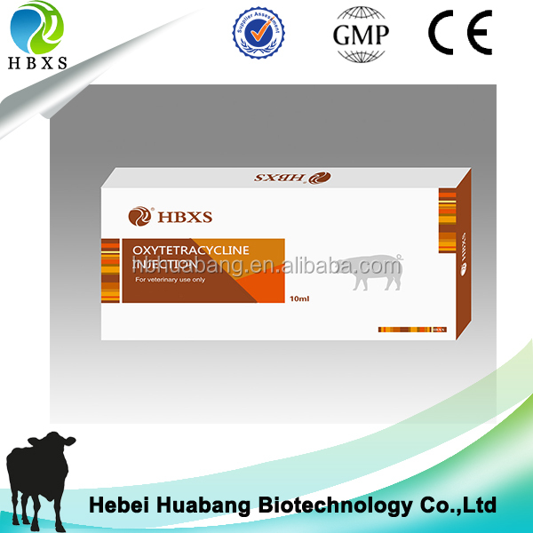 Oxytetracycline 5% Injection 100ml For Cattle Sheep Camel Use