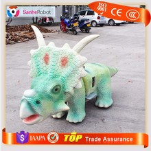 Newest children park item handmade remote control riding dinosaur toys
