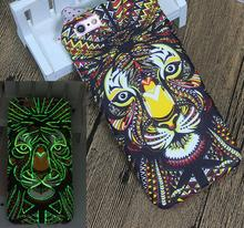 Special Design Luminous 3d relief Animal Painting soft tpu Cell Phone Cover Case for Iphone 7 6S
