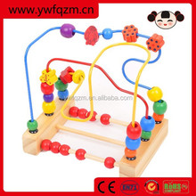 Wholesale wooden string beads maze toy