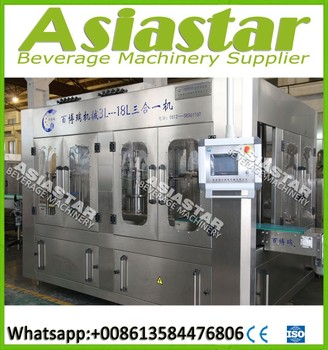 2017 Customized automatic 3L 5L 10L bottled water filling machine