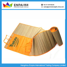 Promotional foldable straw bamboo beach mat