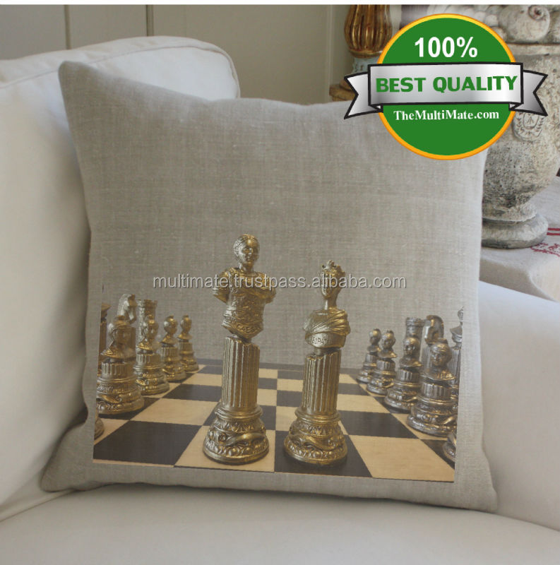 vintage chess board indoor theme printed old look cushion covers