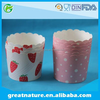Disposable Pleated Paper Baking Cups for Mini Cake