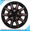 High Quality 13inch 14inch universal Bi-color black and red ABS Plastic car wheel covers