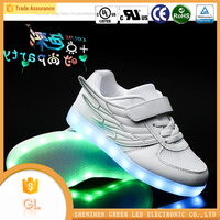 Customized design cool colorful Led sport shoes for boy and girls light up shoes for kids size 25-37