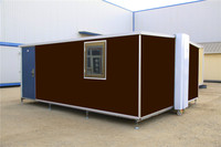 prefabricated luxury luxury mobile color steel sandwich panel folding container house