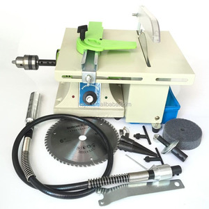 Mini Polishing Machine Gemstone Cutting and Polishing Machine with Shaft Jewelry Bench Grinder