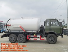 6*6 all wheel drive sewage suction tanker truck