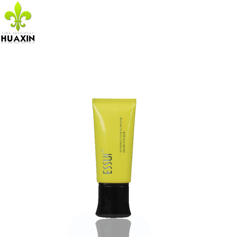 2017 new small clear metallized plastic tube for hotel hair conditioner PE tube cosmetic packaging