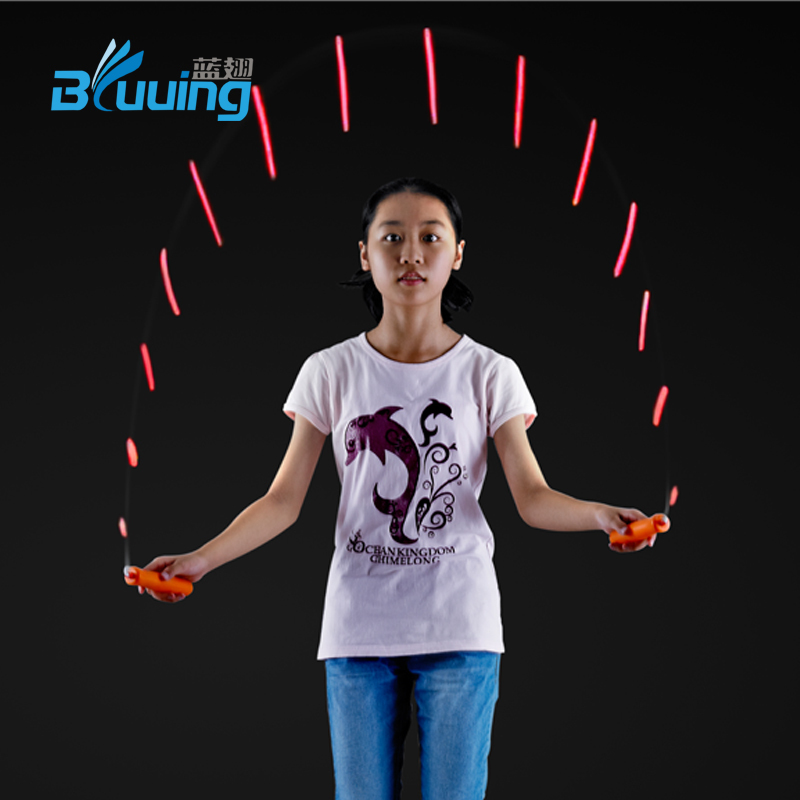 Dongguan high quality speed color change light up skipping jump rope sports gym fitness <strong>equipment</strong>
