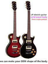 Flame maple electric guitar,solid wood body classical design
