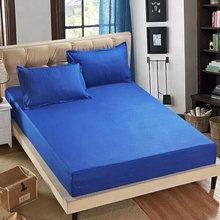 wholesale blue rhombus bulge cool feeling air layer quiltted bed bug waterproof mattress cover and white knitted fabric