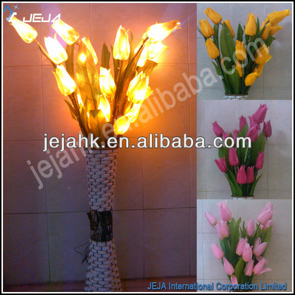 JEJA led attractive yellow tulip light, flower lights