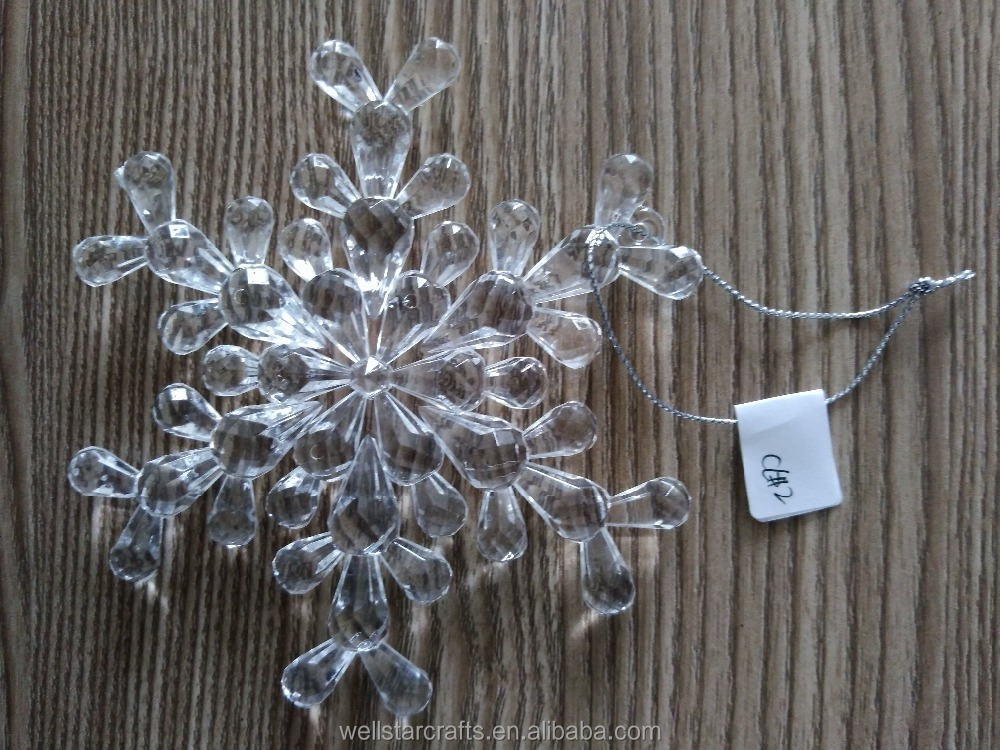 NEW Design CHRISTMAS TREES Decorative products Clear Acrylic Snowflake For Christmas Decoration