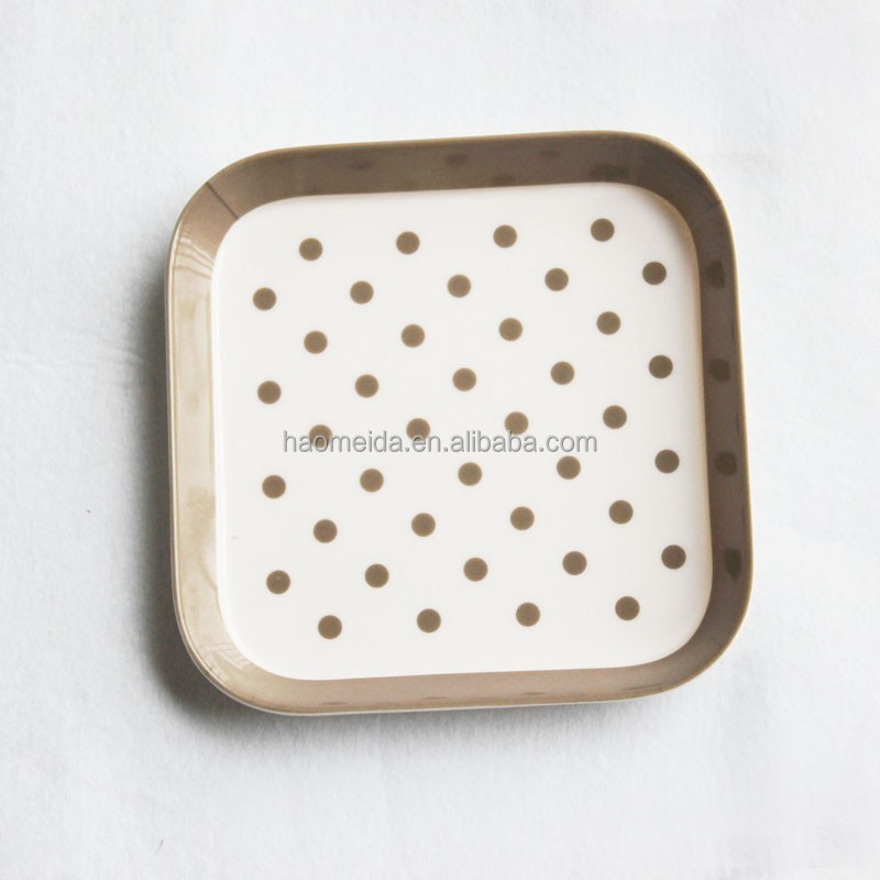 15 x 15cm small mini square hard plastic melamine fruit serving tray