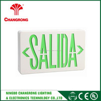 cheap led exit sign , backup battery wall emergency exit sign lamp