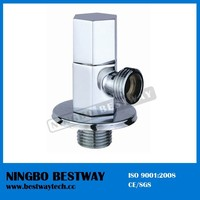 Chrome plated brass hexagonal angle valve with zinc handle