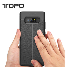 Hot selling Litchi Grain TPU Leather Phone Case for Samsung Galaxy Note8 s8 plus J3 J5 J7