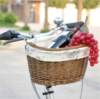 Dual Use Removable Pet Rattan Bicycle Basket