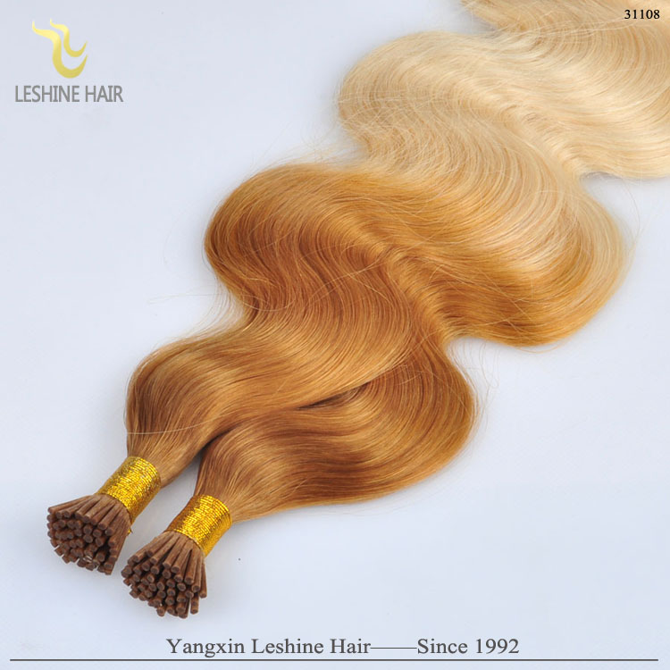 Wholesale Price For White Women Double Drawn Brazilian I Tip Curly Human Hair Extension