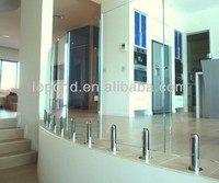 balcony aluminum and glass/stair glass railing prices